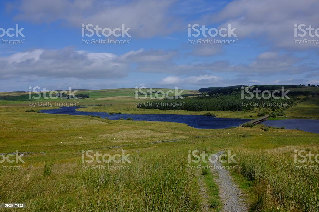 Alwen Reservoir stock photo