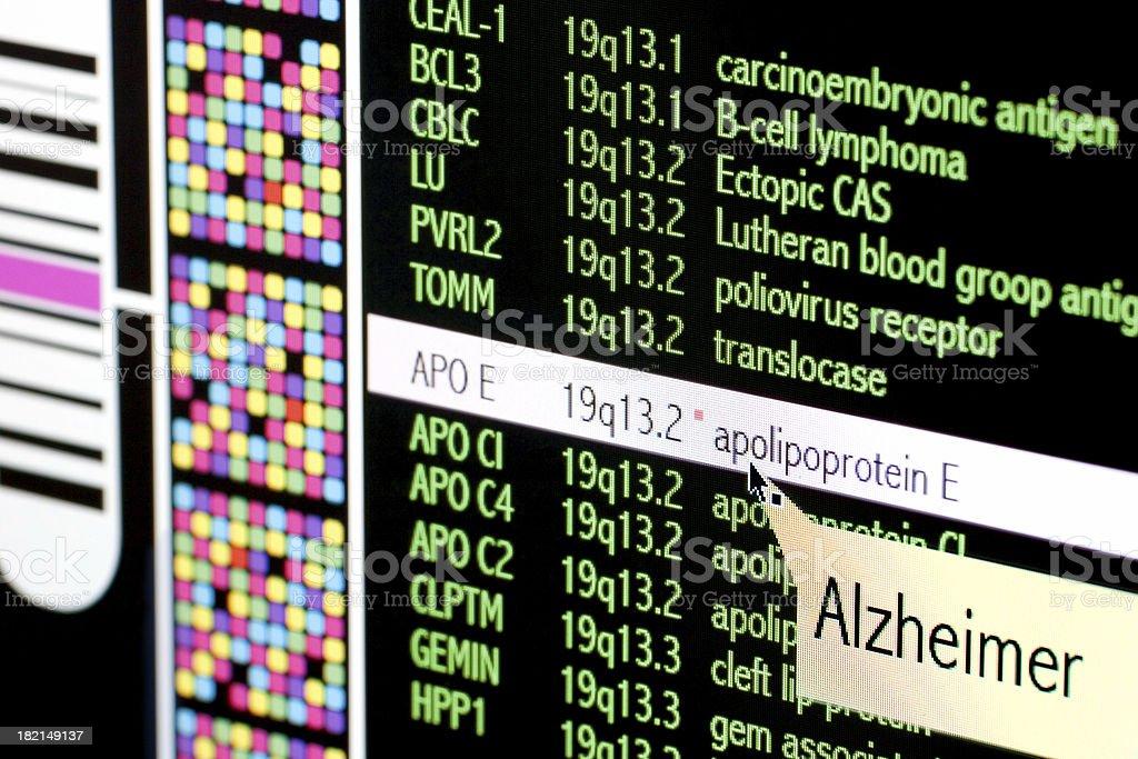 Alzheimer disease stock photo