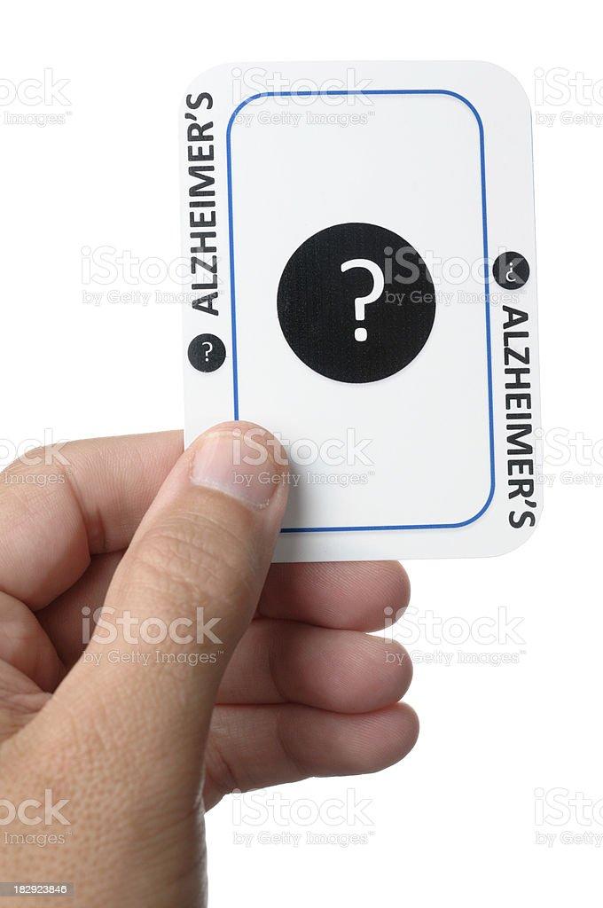 Alzheimer's card dealt in life royalty-free stock photo