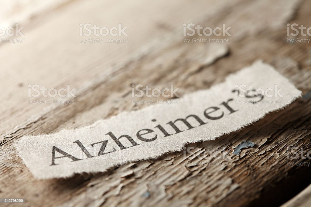 Alzheimer's Concept stock photo
