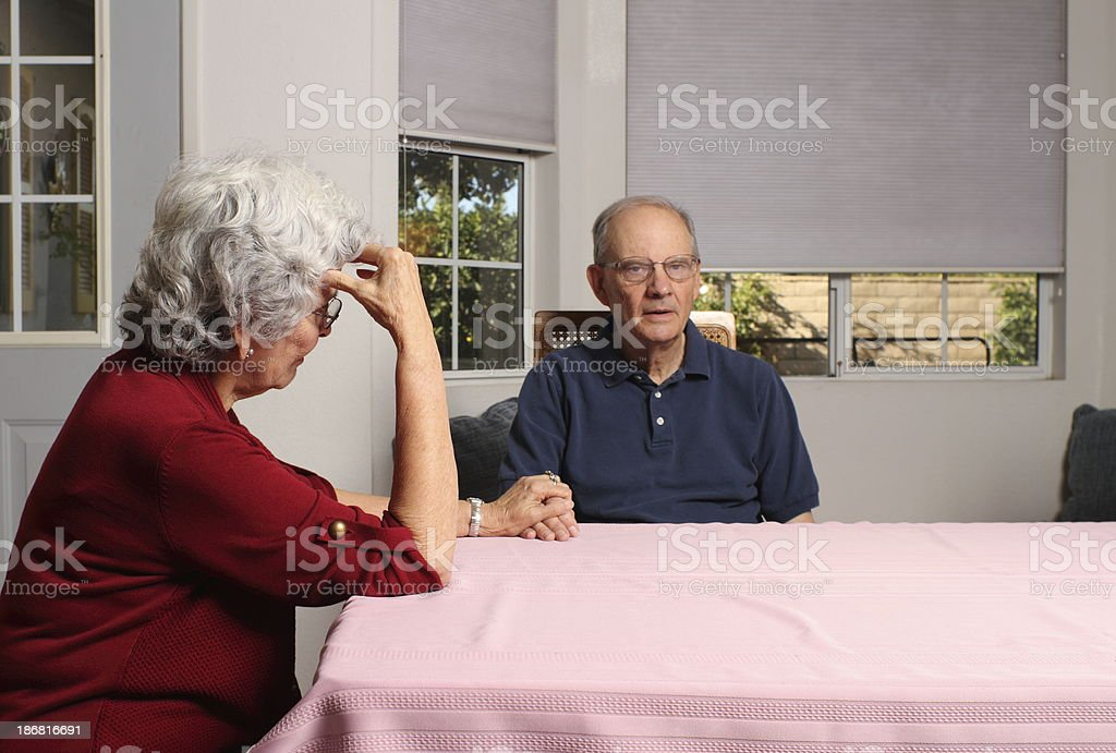 Alzheimers Couple Horizontal royalty-free stock photo