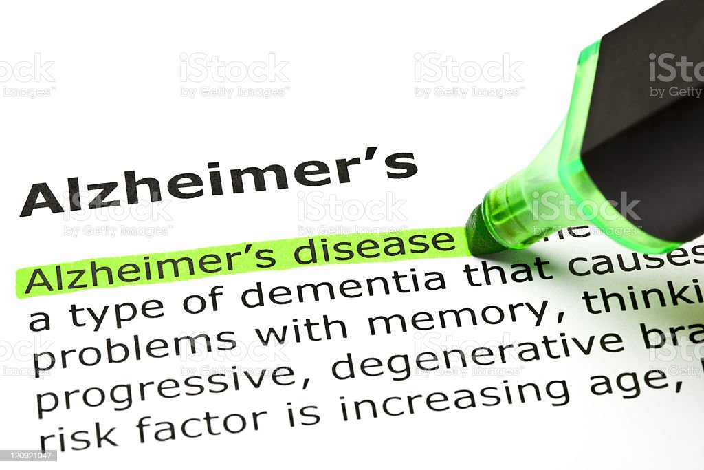 'Alzheimer's disease', under 'Alzheimer's' royalty-free stock photo
