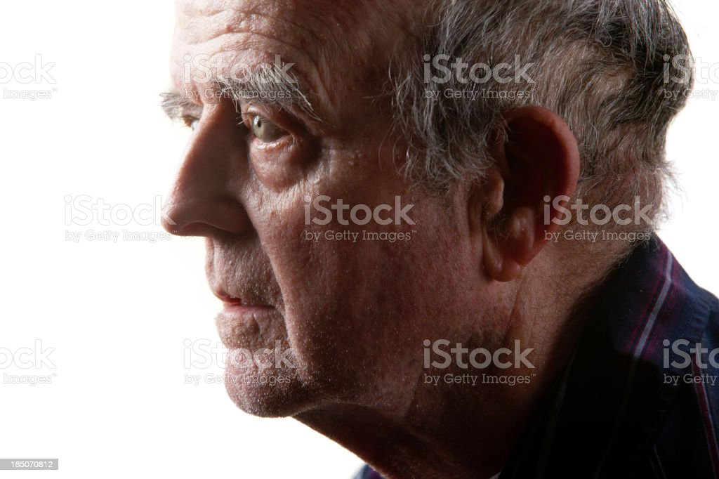 Alzheimer's patient royalty-free stock photo