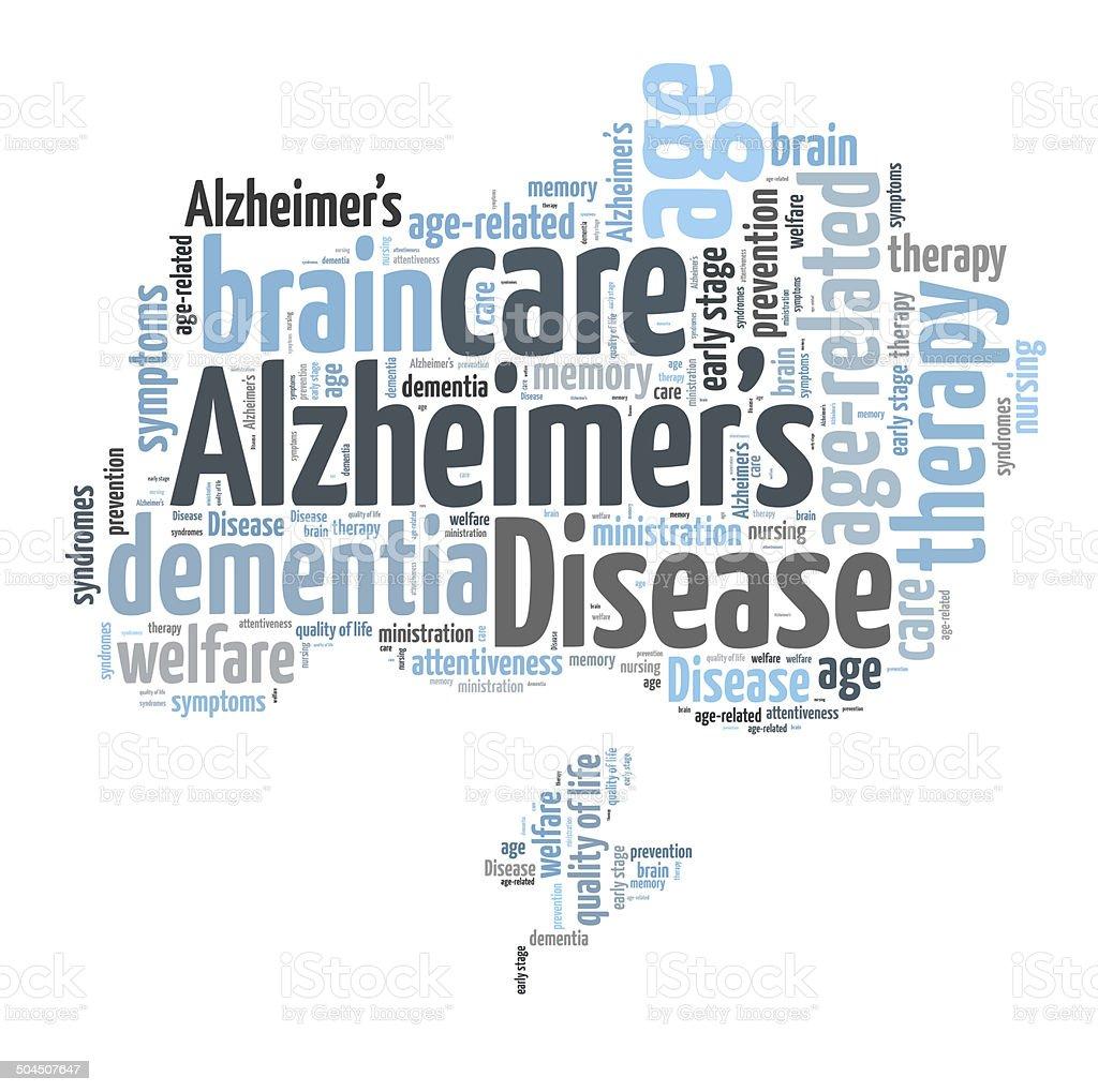 Alzheimer's word cloud stock photo