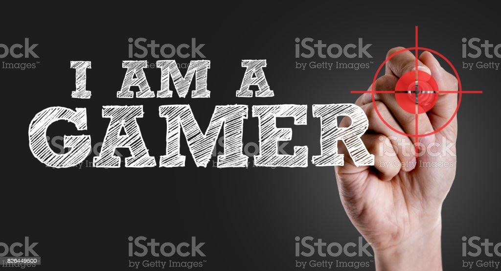 I am a Gamer stock photo