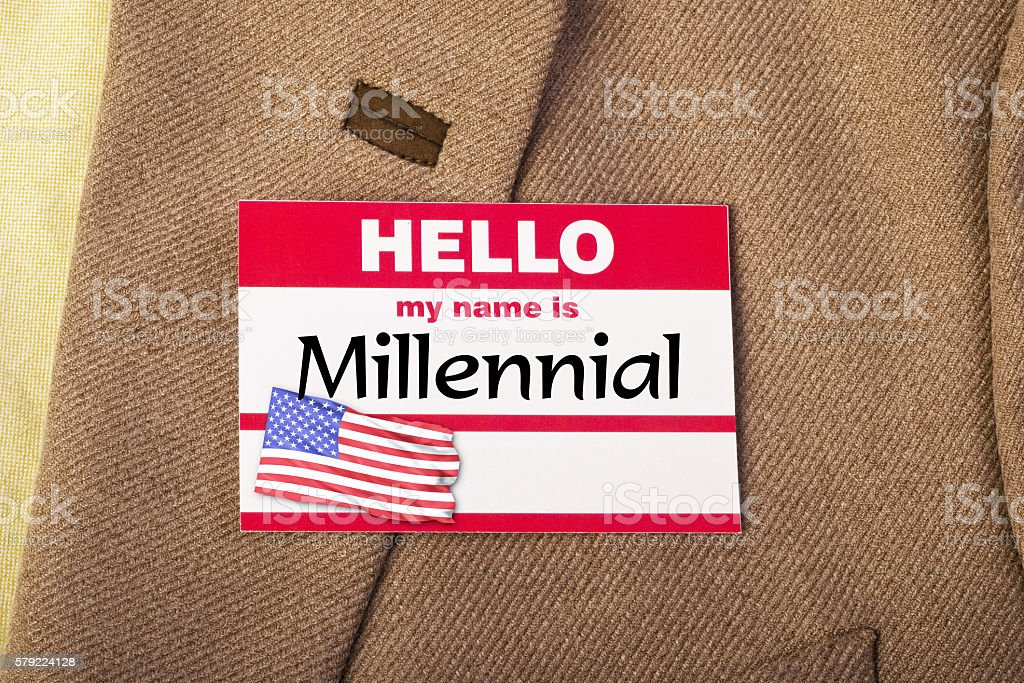 I am a Millennial. stock photo
