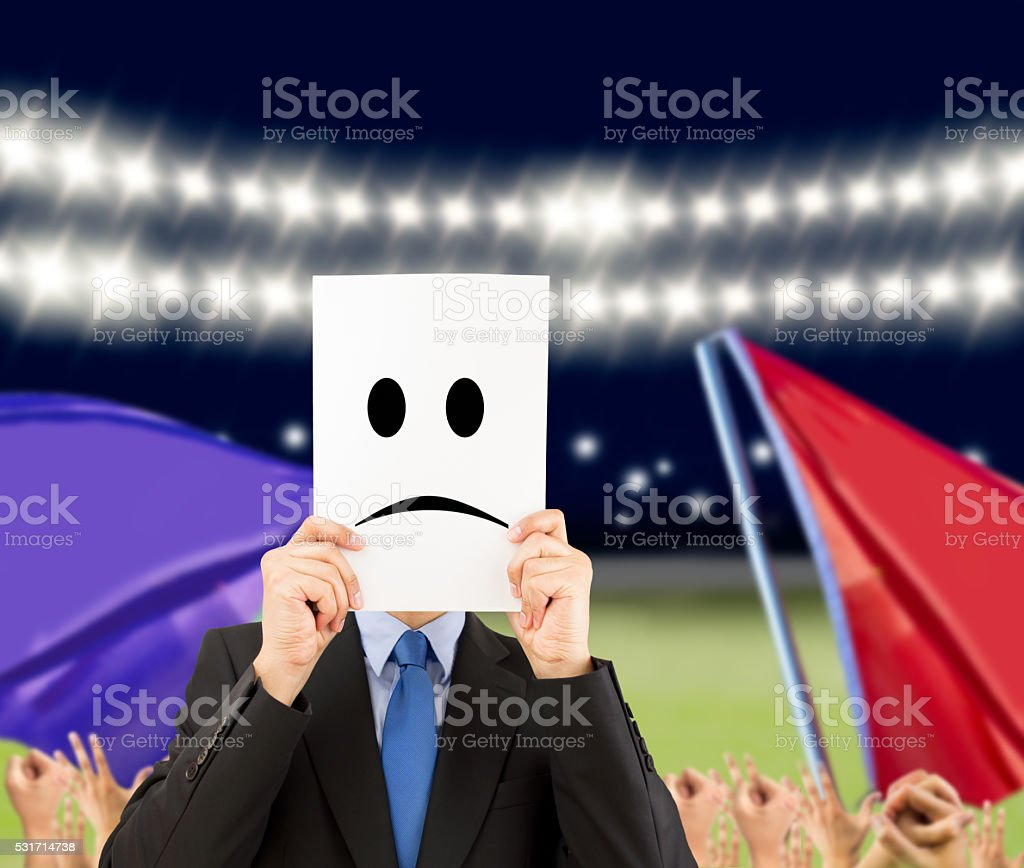 I am ashamed to lose stock photo
