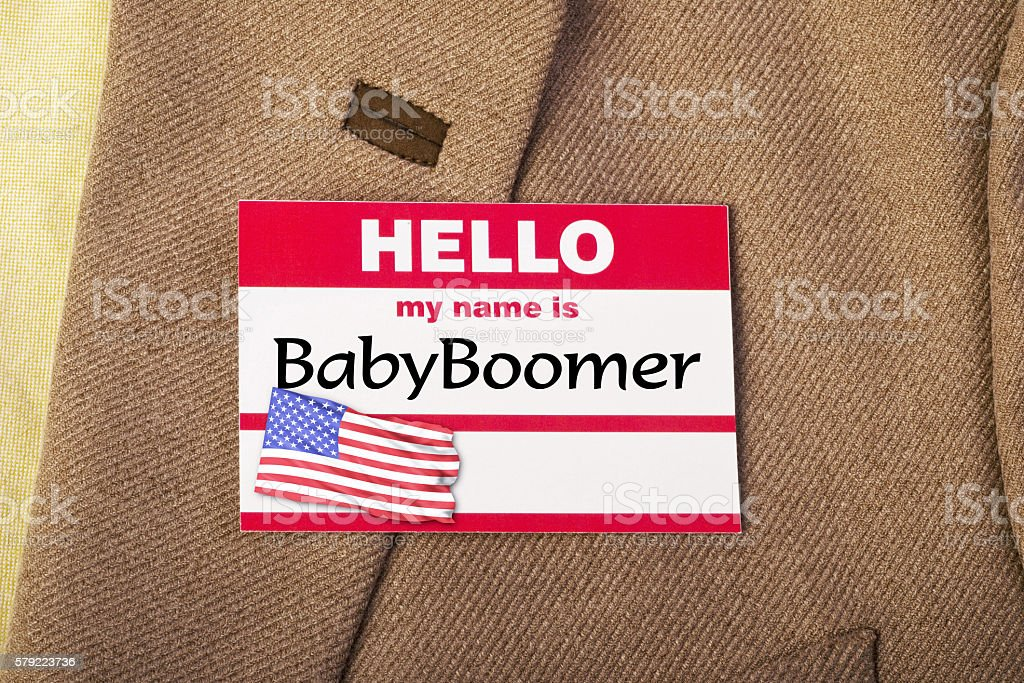 I am Baby Boomer. stock photo