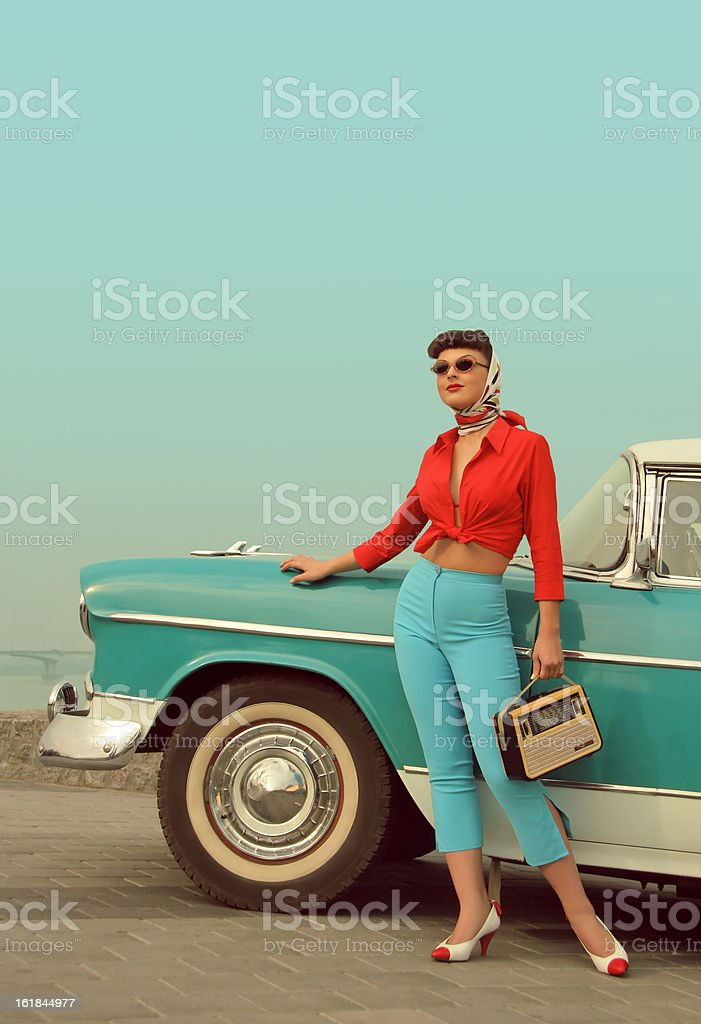 I Am Back! stock photo