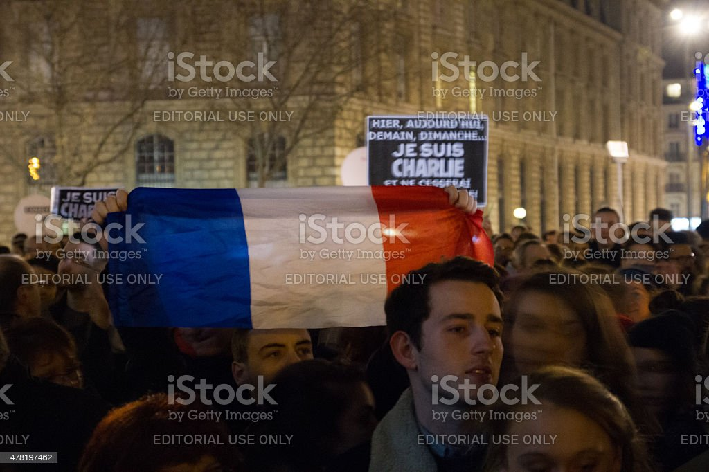 Je Suis Charlie royalty-free stock photo