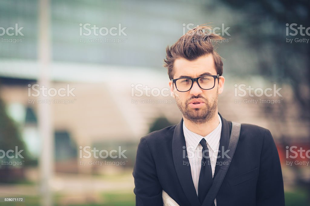 I am confused stock photo