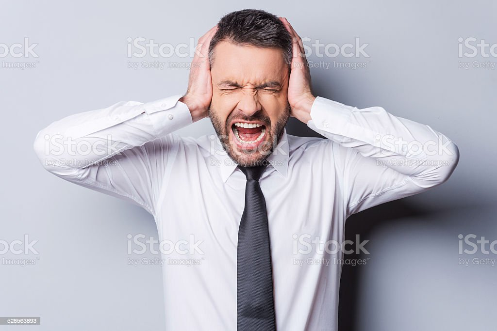 I am fed up with it! stock photo