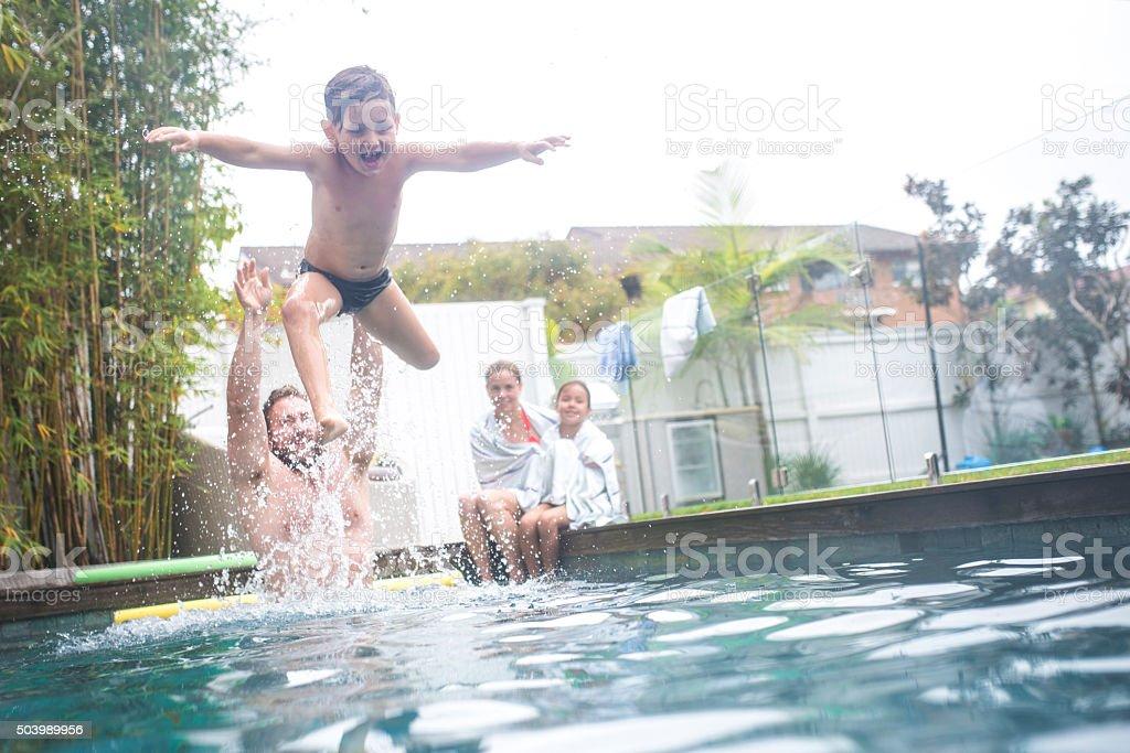 I am flying! stock photo