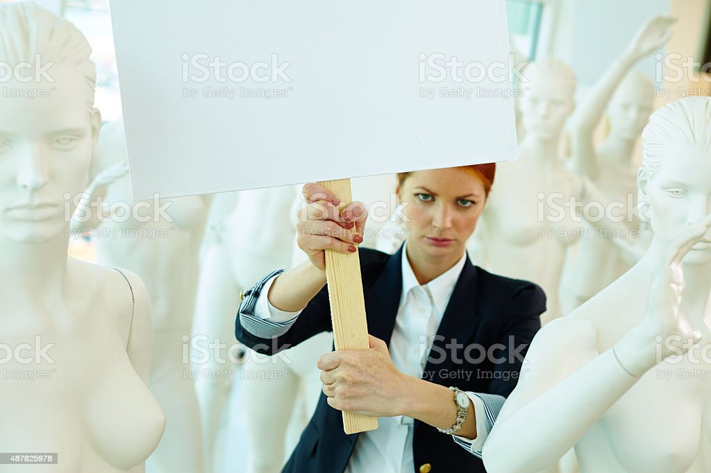 I am for liberty of women stock photo