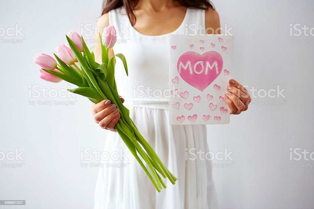 I am happy mother stock photo