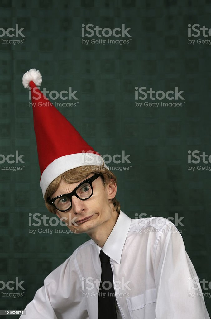 Am I late for Xmas? royalty-free stock photo