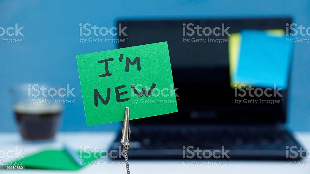 I am new stock photo