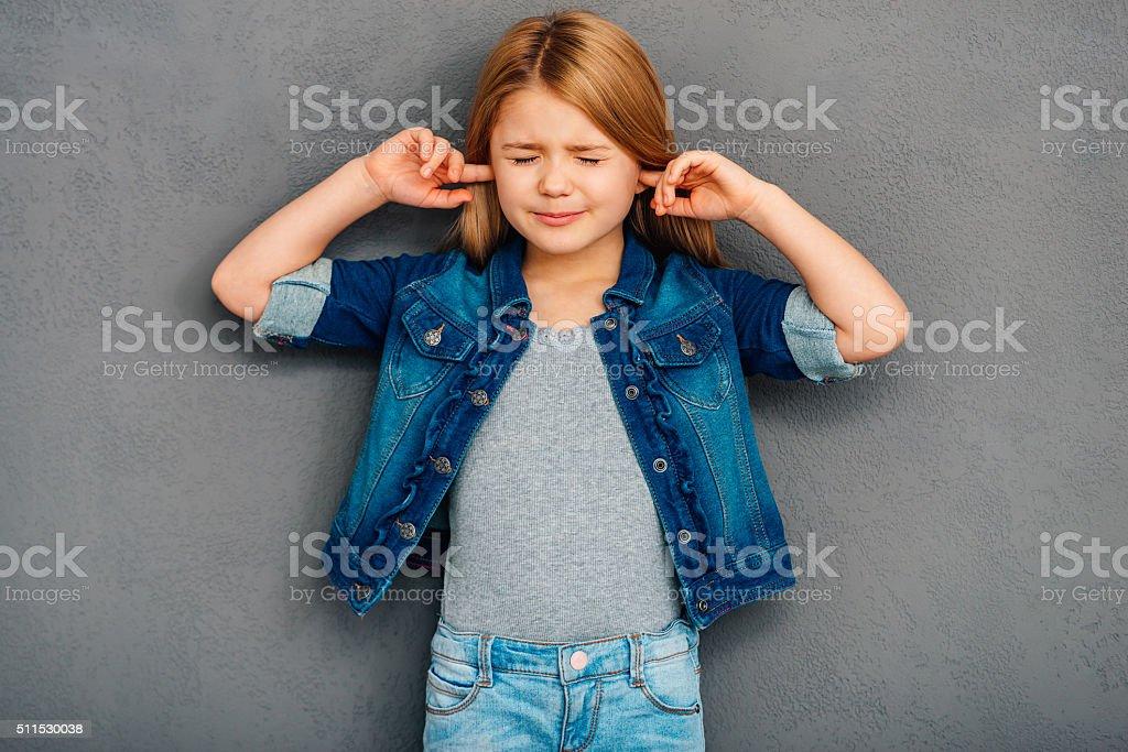 I am not listening! stock photo