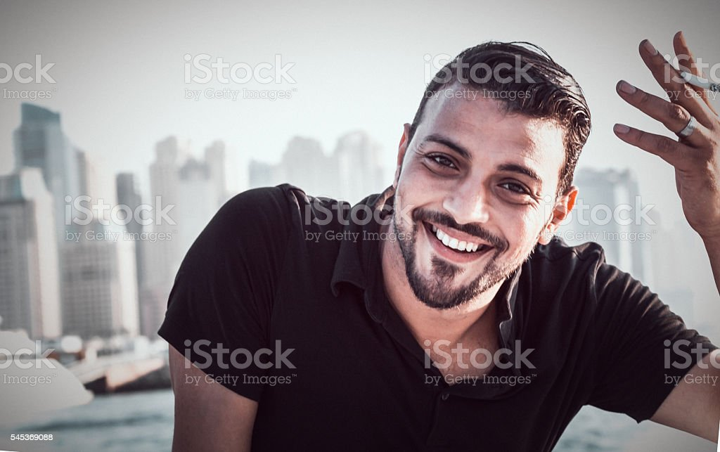 I am not taking life seriously anymore. stock photo