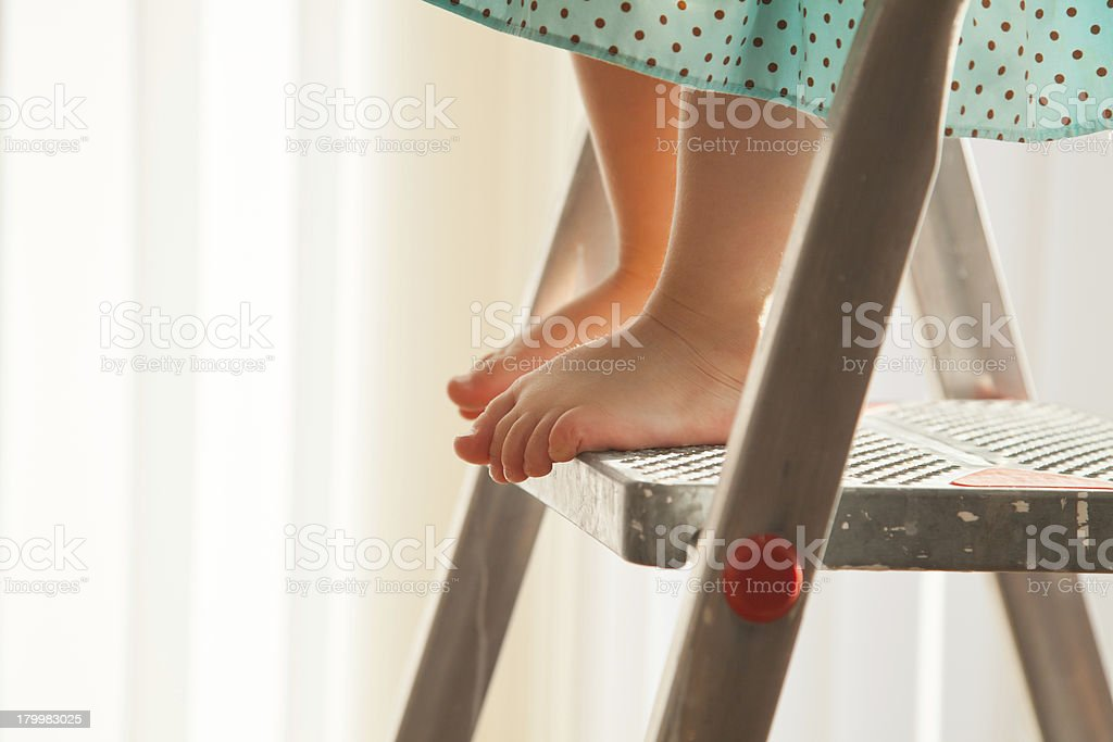 I am on the top! stock photo