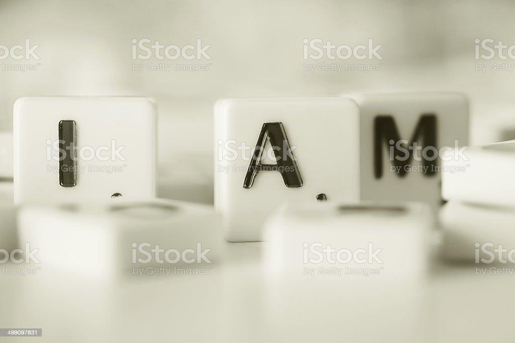 I am .. stock photo