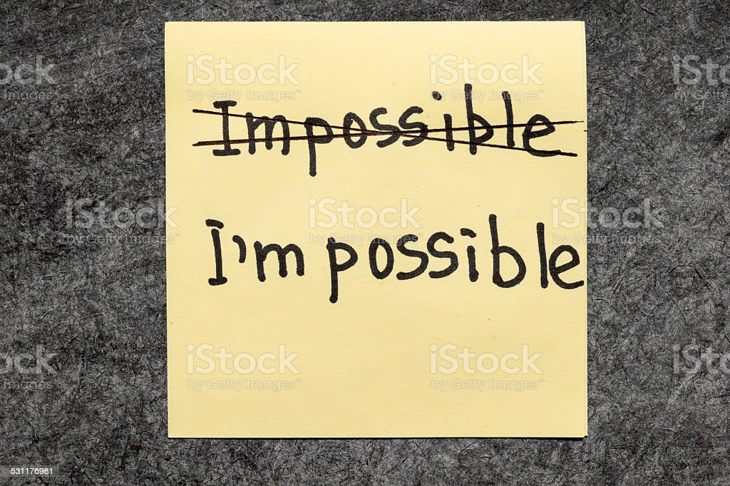 I am possible stock photo