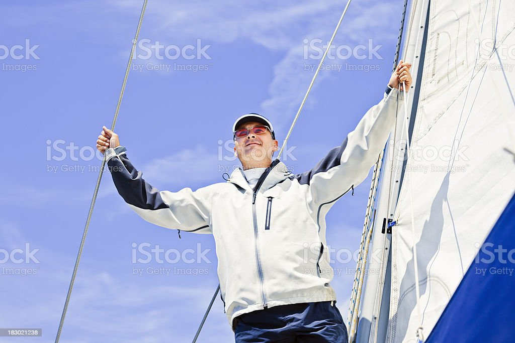 I am sailing royalty-free stock photo