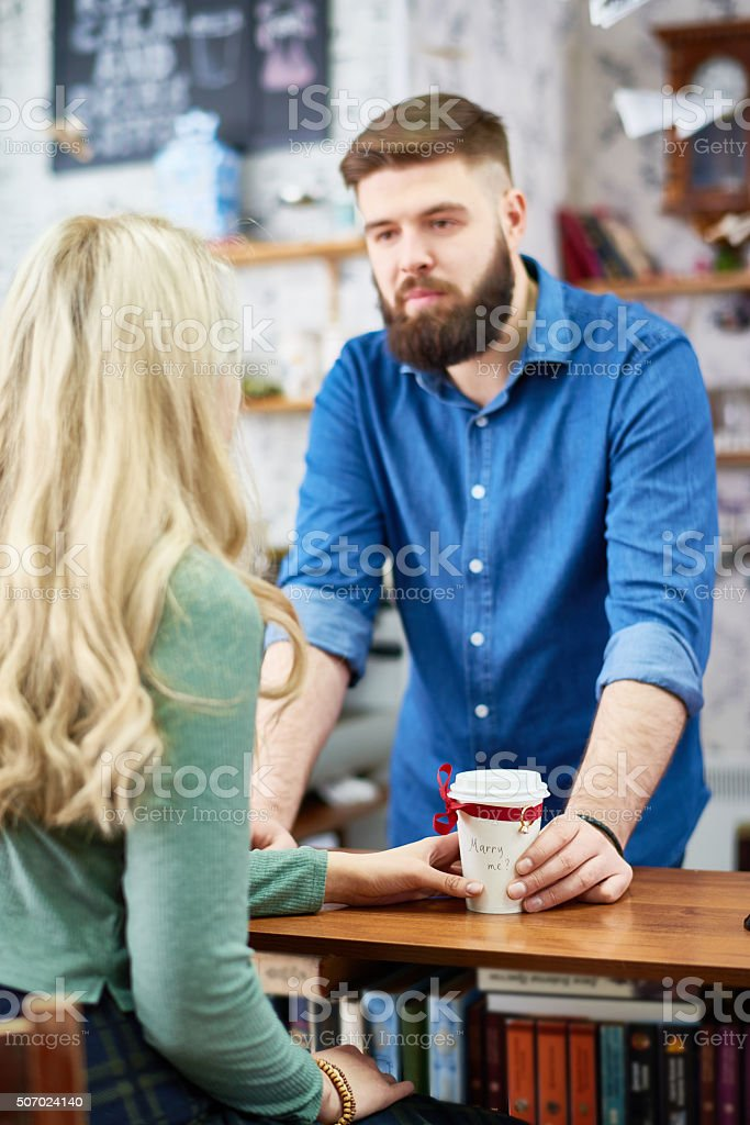 I am serious in my feelings stock photo