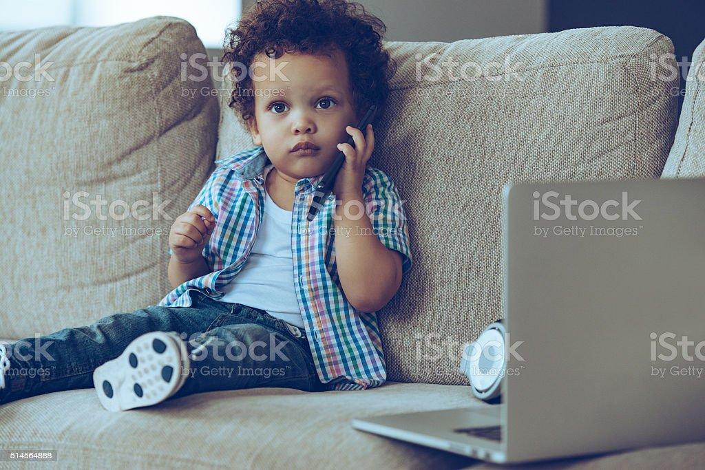 I am so busy! stock photo