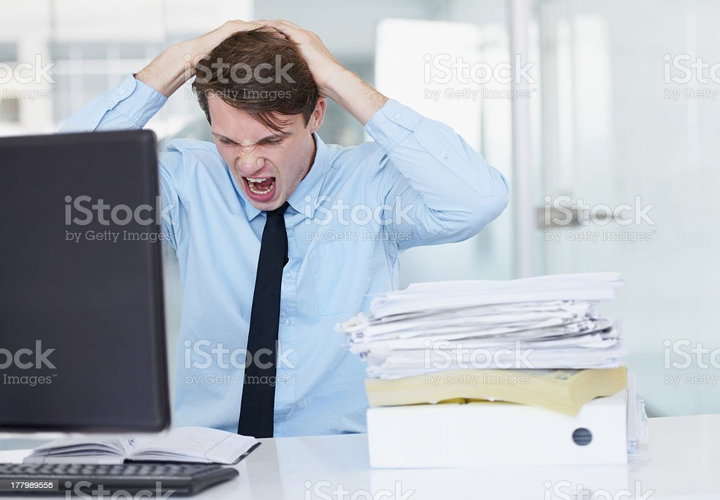 I am so stressed out! royalty-free stock photo