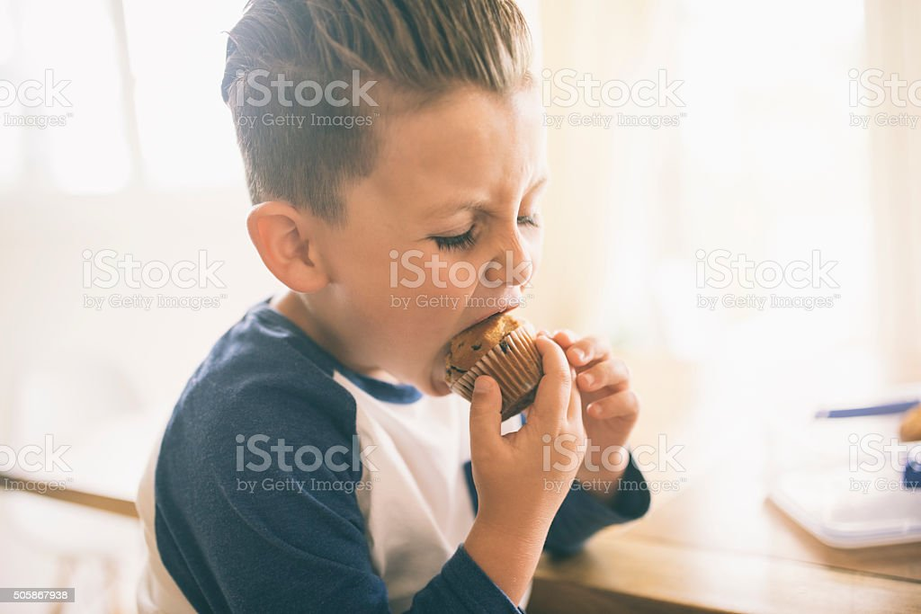 I am the muffin man! stock photo