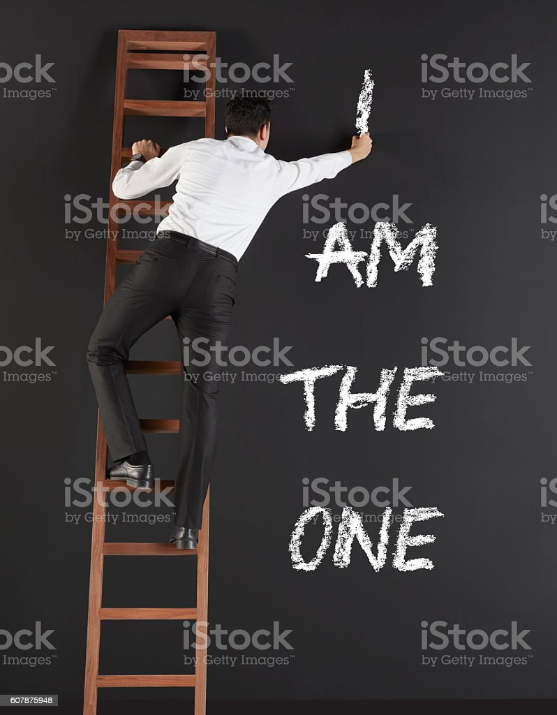 I am the one stock photo