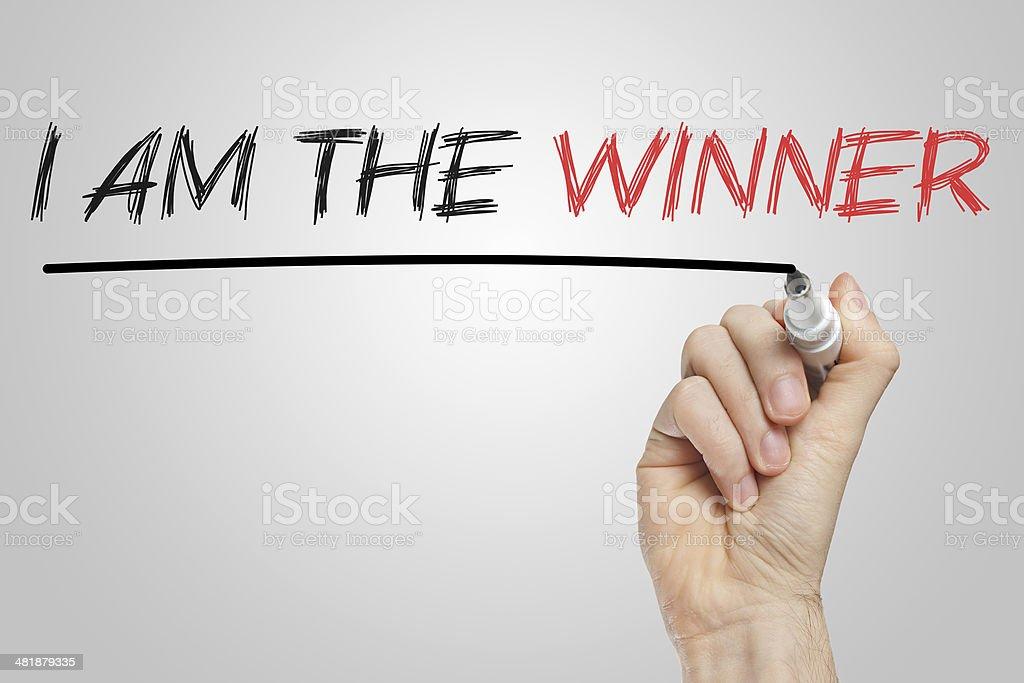 I am the winner stock photo