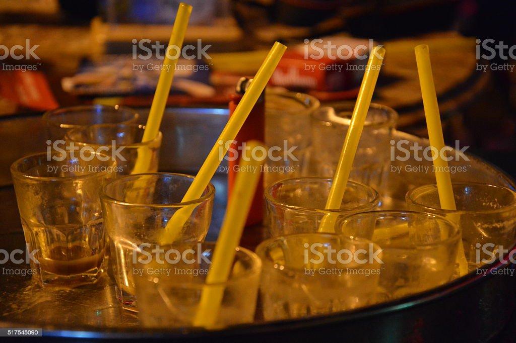B52 am trinken stock photo
