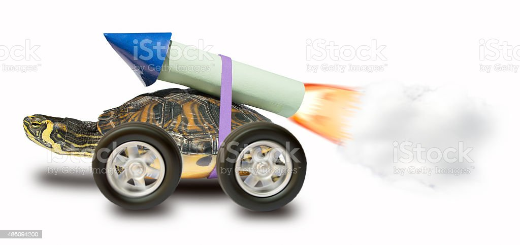 I am very fast stock photo