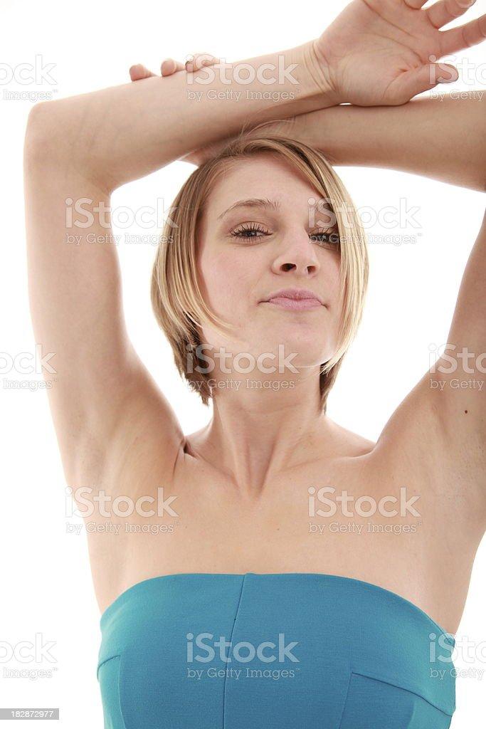 Estoy mujer foto de stock libre de derechos