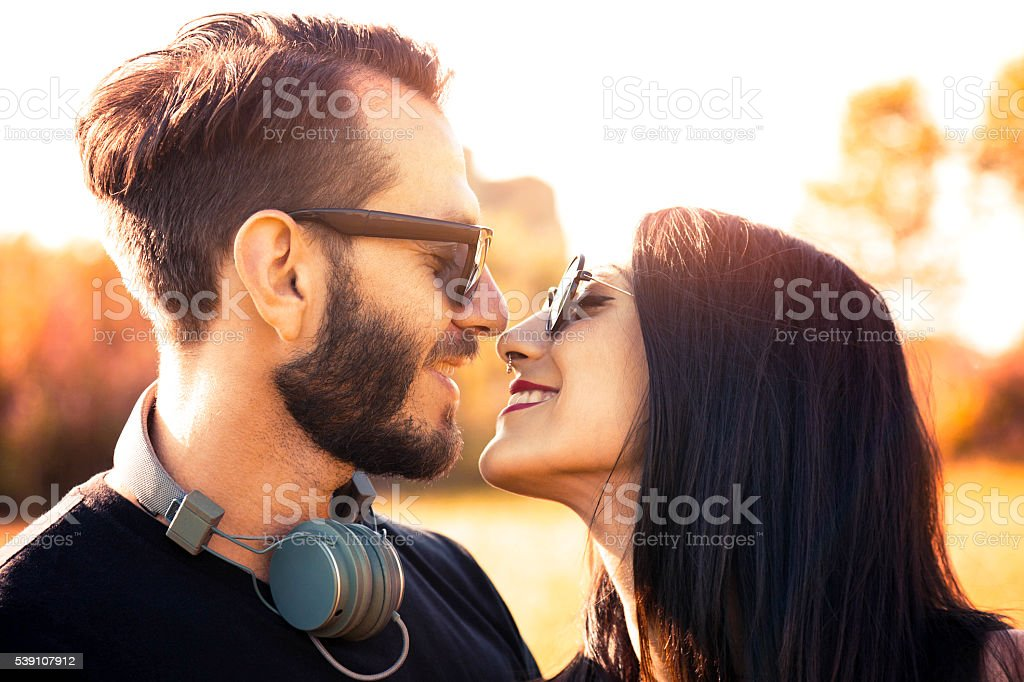 I am yours - Young couple in love stock photo