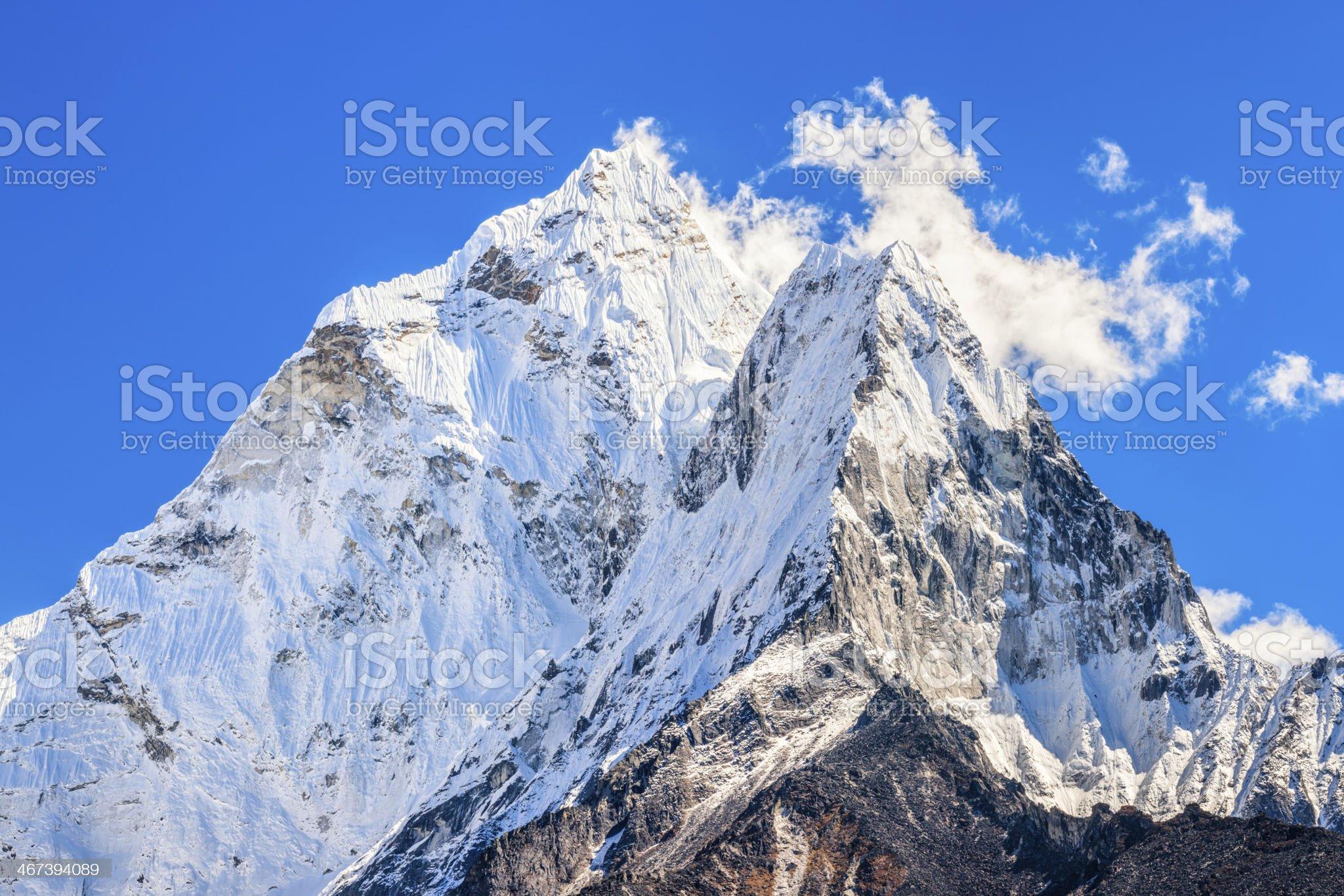 Ama Dablam 27MPix - Himalaya Range royalty-free stock photo