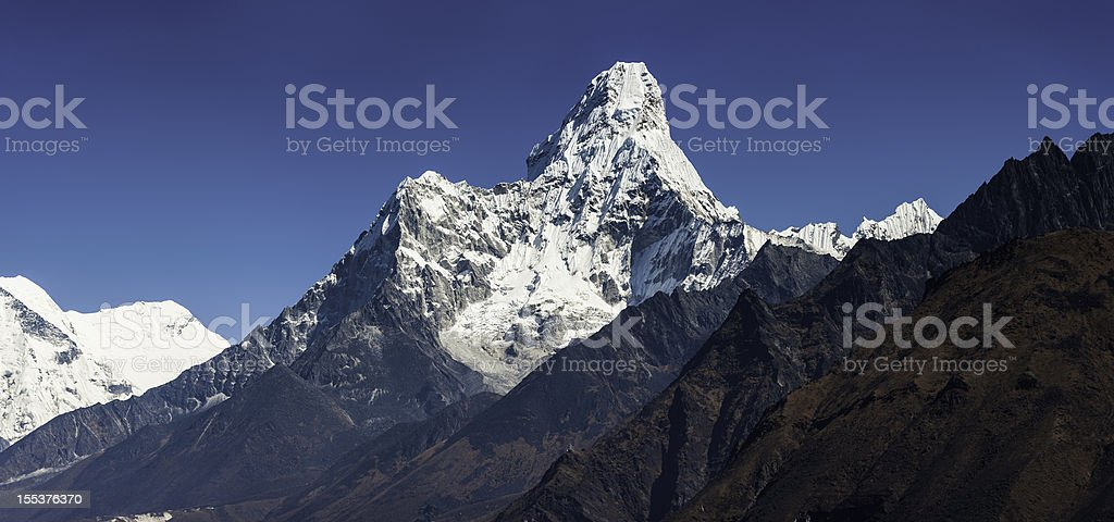 Ama Dablam 6812m Himalaya mountain peak royalty-free stock photo