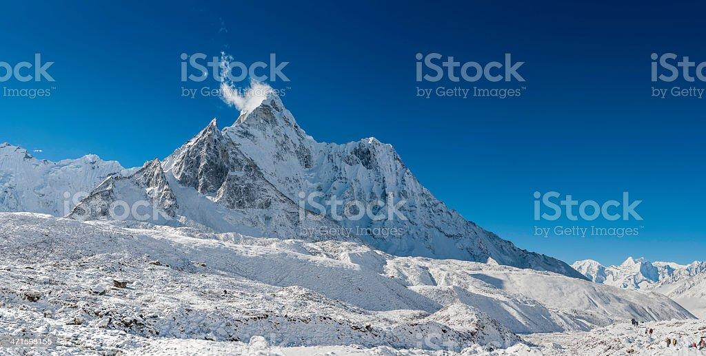 Ama Dablam 6812m iconic Himalaya mountain peak royalty-free stock photo