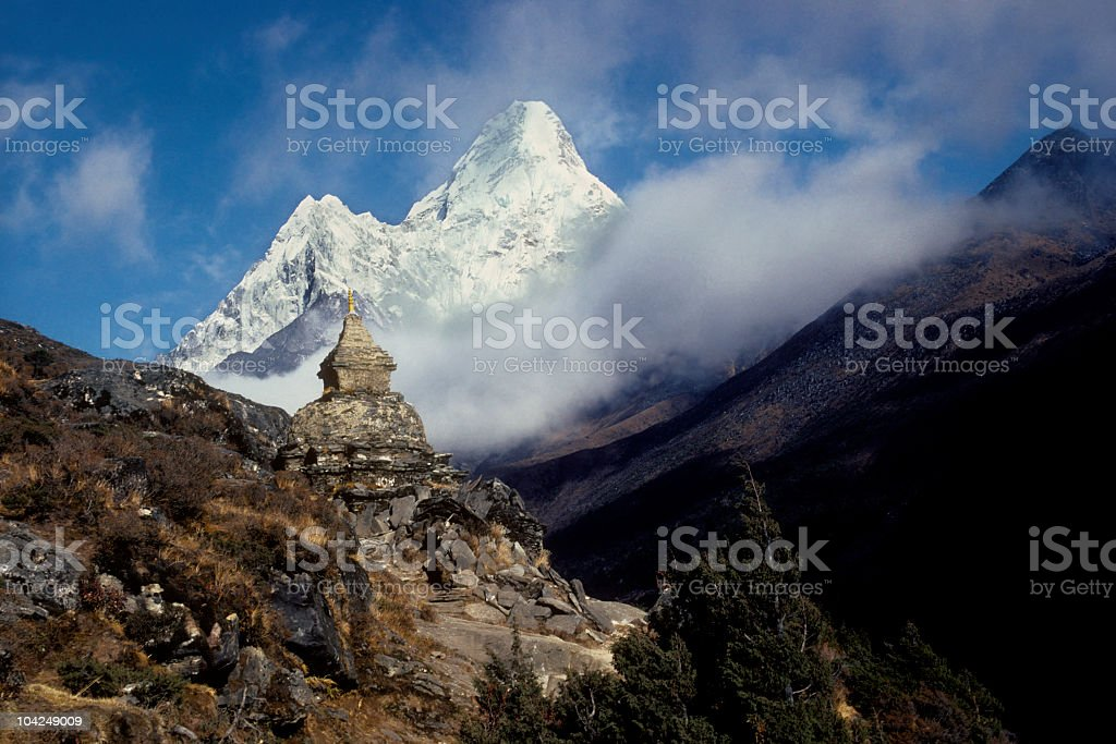 Ama Dablam 6858 m royalty-free stock photo