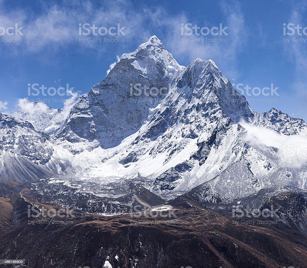 Ama Dablam 76MPix XXXXL size - Himalaya Range royalty-free stock photo
