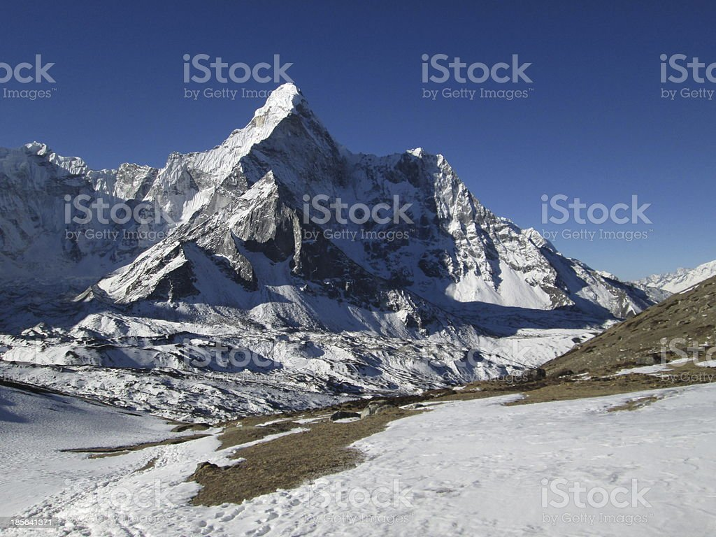 Ama Dablam and glacier royalty-free stock photo