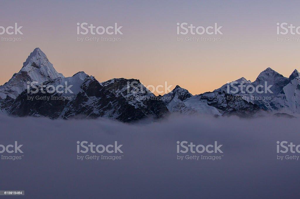 Ama Dablam and the Himalays stock photo