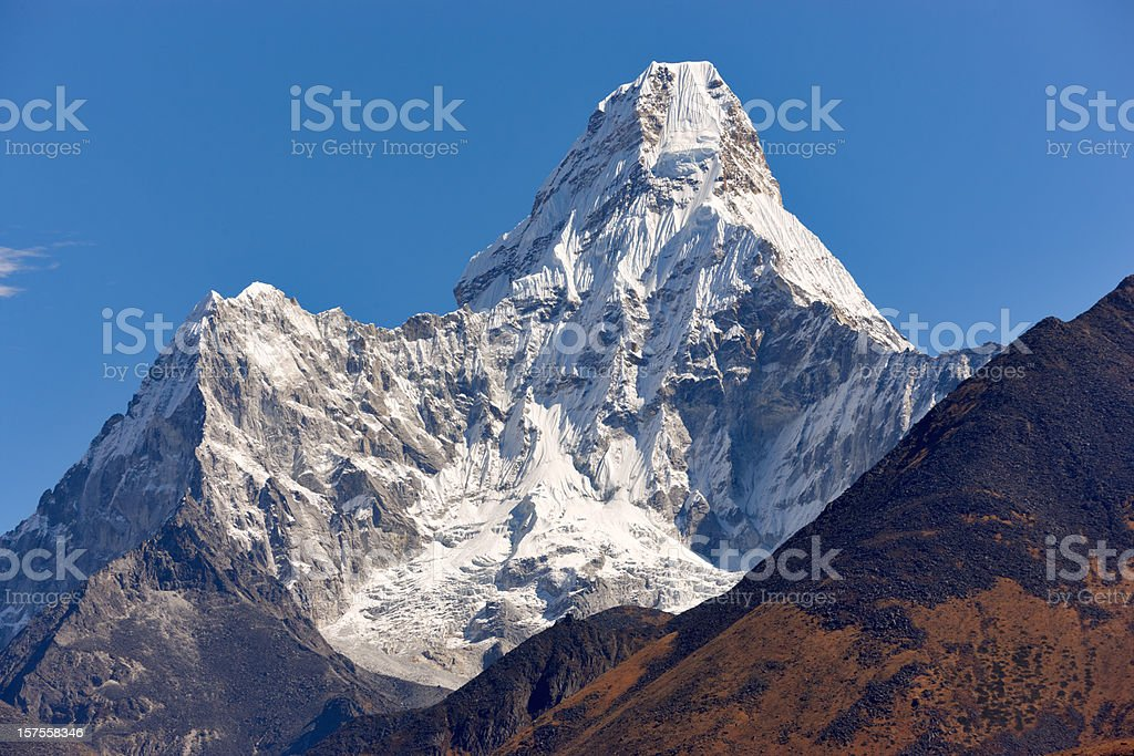 Ama Dablam. Everest Circuit. Nepal motives. stock photo