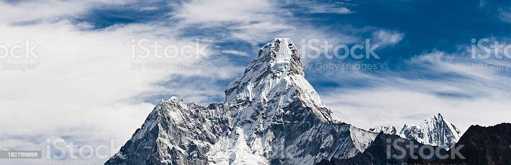 Ama Dablam iconic Himalaya mountain peak Mt Everest NP Nepal royalty-free stock photo