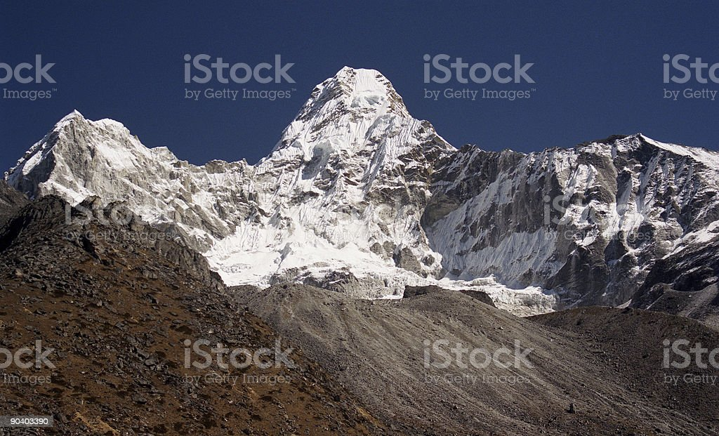 Ama Dablam in the Himalaya royalty-free stock photo