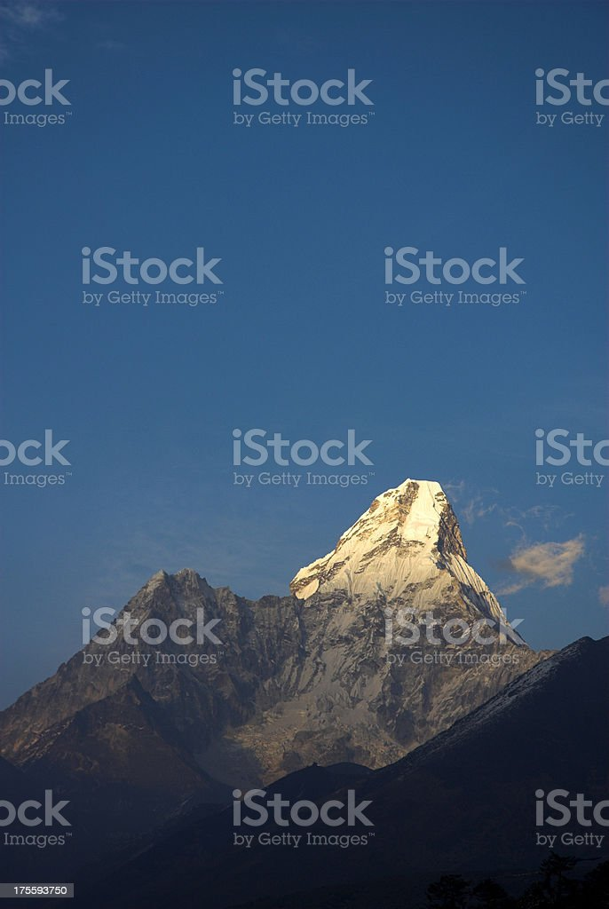 Ama Dablam late afternoon royalty-free stock photo