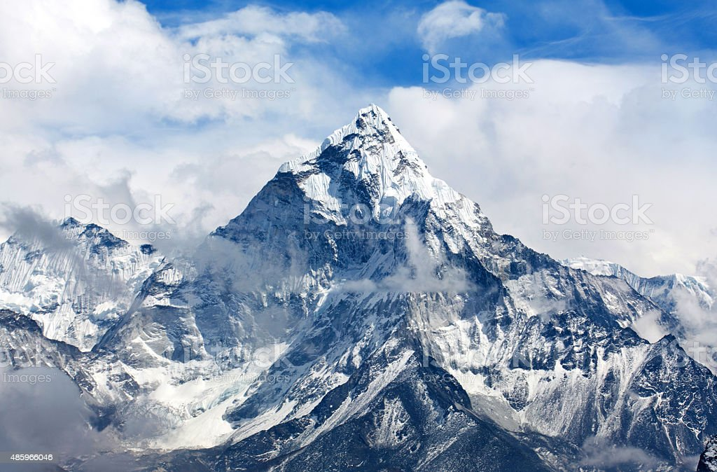 Ama Dablam Mount in the Nepal Himalaya stock photo