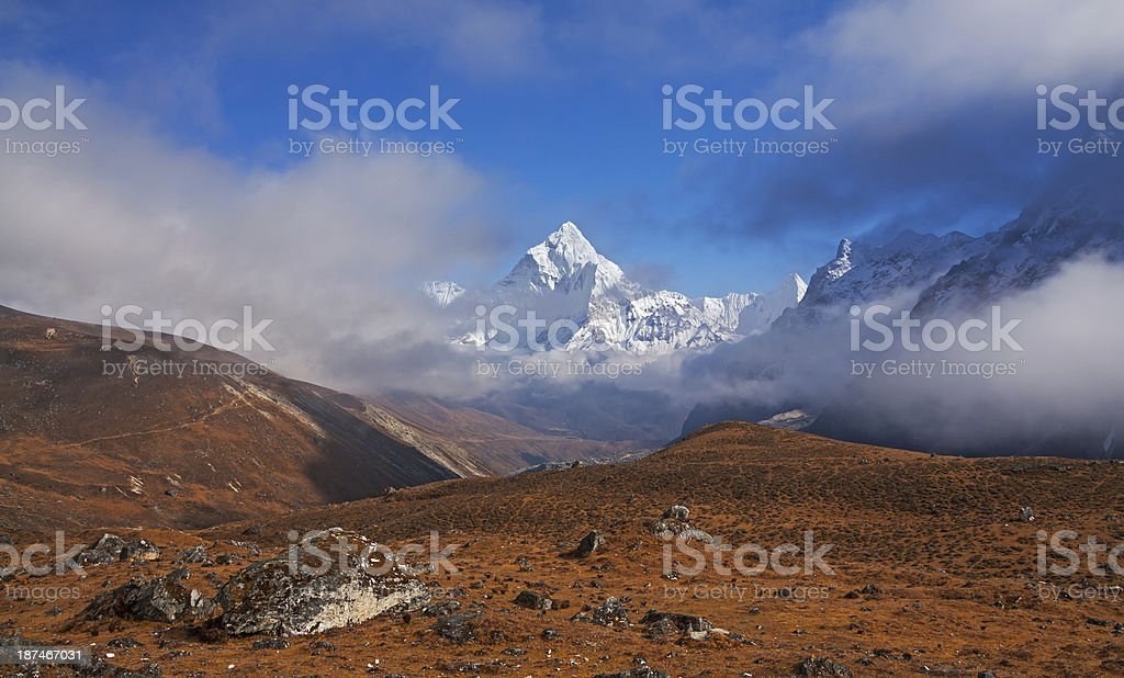 Ama Dablam Peak stock photo